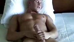 Blonde Jock masturbates for audition