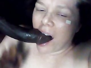 Hot white girl sucks big black dick