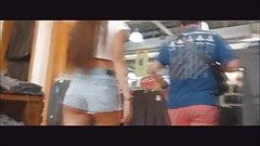 Spy and Voyeur Teen cheeky jean shorts