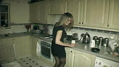 husband gives his wife hard an