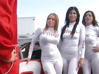 Hot babes free sex - Racer gets fuck of a lifetime from 4 hot babes