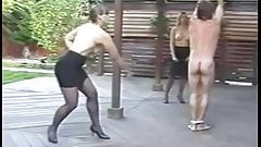 Hot hard caning punishment