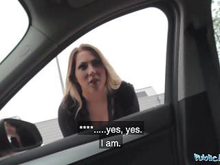 Public Agent Tattooed German Mia Blow rides strangers cock