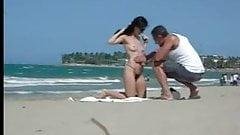 Stranger Putting Sun Cream On Her Body
