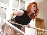 MOM Teen stud fucks redhead MILF and cums on her face