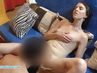 Teen lapdancer fucks hardcore and makes her cunt squirt