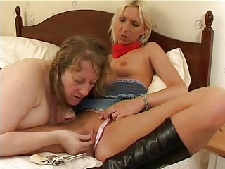 British Old & Young Lesbians Using Toys