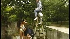 hot hungarian brunette garden party