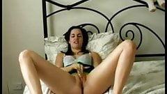 Vanessa masturbates after work