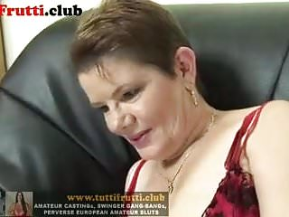 Slutty Fatty Euro mature on her first porn casting