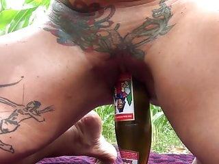 Slut Petra Bottle fuck 2013