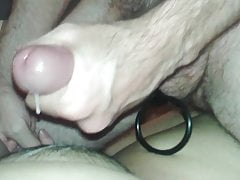 Cumming on my wife's pussy with some encouragement