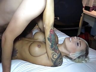 hot german blonde nice fake titis fucked hard - cum on ass