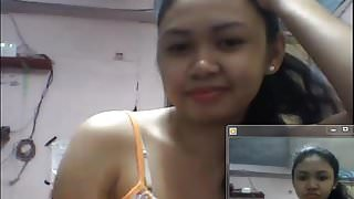 filipino girl showing boobs in skype in 2015