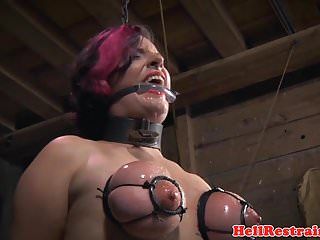Preview 4 of Chained bdsm sub caned and whipped by her dom