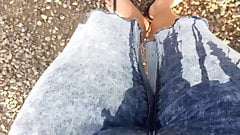 I didn't made it in time so I wetted my jeans after car ride