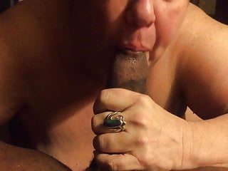 Old wife eat my cock