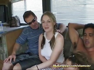her first bangvan groupsex orgy