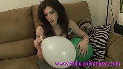Tattoo teen blows up balloons