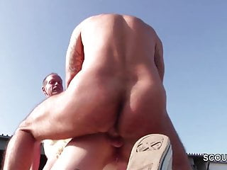 daughter Seduce to Fuck Outdoor by NOT Step-dad and Friend