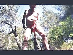 transvestite anal fisting forest outdoors sextoy 11