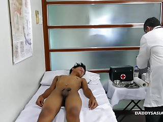 Preview 1 of Doctor Daddy Barebacks Asian Boy Clark