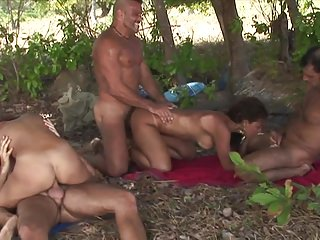 Two Women Come Across 3 Dudes. Result: Anal Gangbang