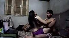 Indian chick fucks her man well