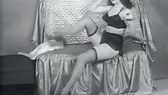 Remarkable Lady Showing Her Beauty (1950s Vintage)