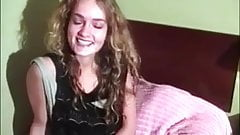 Beautiful curly hairy teen solo