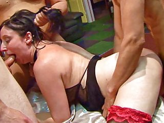 Doggystyle Gangbang With Two British Amateurs