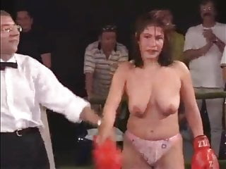 Outdoor Topless Boxing Babes