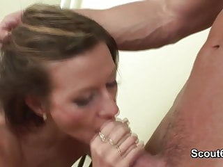 German Beauty Milf Teacher get fucked Anal by young boy