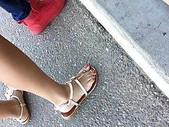candid nice latina feet at carnival