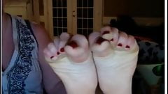 cute blond show your nice soles