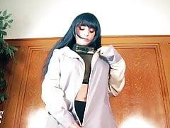 Hinata Hyuga gives herself an intense O!