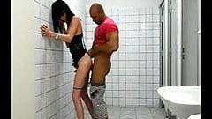 TS Barebacked In The Bathroom
