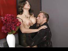 Danica Dillan shows him her big tits & lets him suck on them
