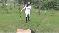 Mistress is Bull whipping  sla
