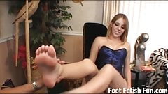 If you rub my feet I'll give you a footjob reward