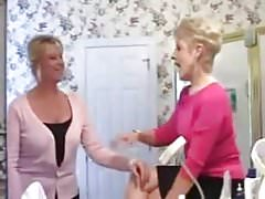 Two Mommys give their Student some extra lessons