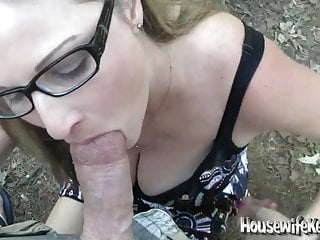Sexy Amateur Wife Gives An Outdoor Pov Blowjob Gets A Messy