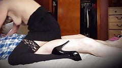 Samantha high heels and stockings slow ride sexy tight body 's Thumb