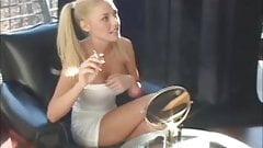 blonde smoking girl