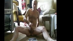 floor naked cock wanking  off