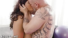ADULT TIME Stunning BBW Sofia Rose Teases Trainer B4 Fuck