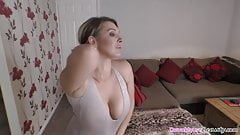 Amazing big boobs babe dancing and teasing for fans