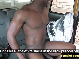 Preview 6 of Busty british cabbie pounded by black dick