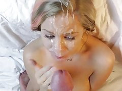 19yr old Chloe getting a huge load