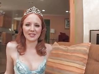 Sweet redhead Margan Murray hard fuck & swallow cum
